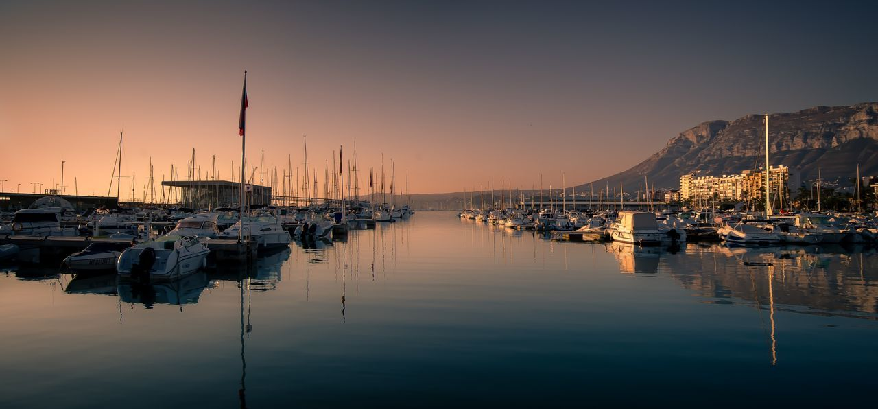View Of Marina At Dusk