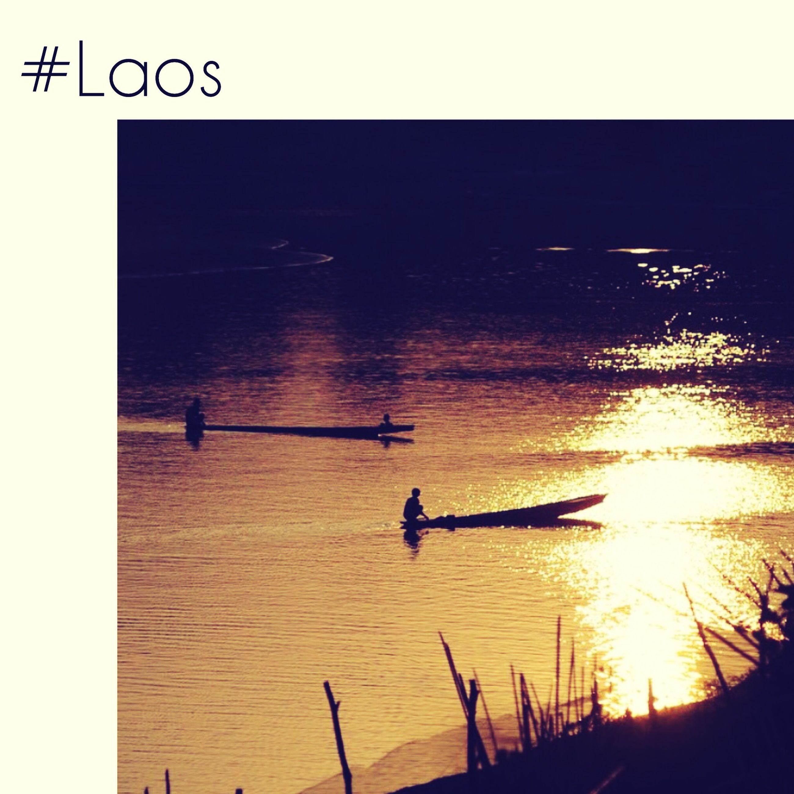 transfer print, water, sunset, auto post production filter, transportation, reflection, mode of transport, sun, silhouette, lifestyles, men, nautical vessel, leisure activity, sea, sunlight, travel, nature, sky