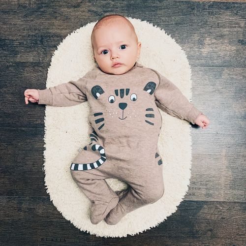 Representation Childhood Baby Indoors  Looking At Camera High Angle View Smiling Portrait Babyhood Young One Person Cute Innocence Animal Representation Child Creativity Directly Above Wood - Material Art And Craft Looking At Camera Cute Boy Baby Boy Baby Clothing Newborn