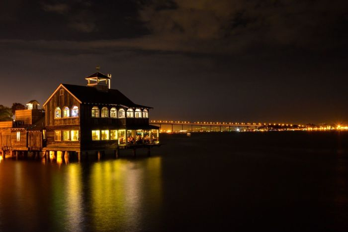 Learn & Shoot: After Dark San Diego Sandiego Sandiego_ca California Piercafè Seaport Village Seaport Night Night Lights Nightphotography Light Multicolors
