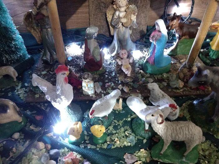 nascimento de Jesus em presépio Jesus Presépio Natal Christmas Decoration High Angle View No People Indoors  Day Close-up