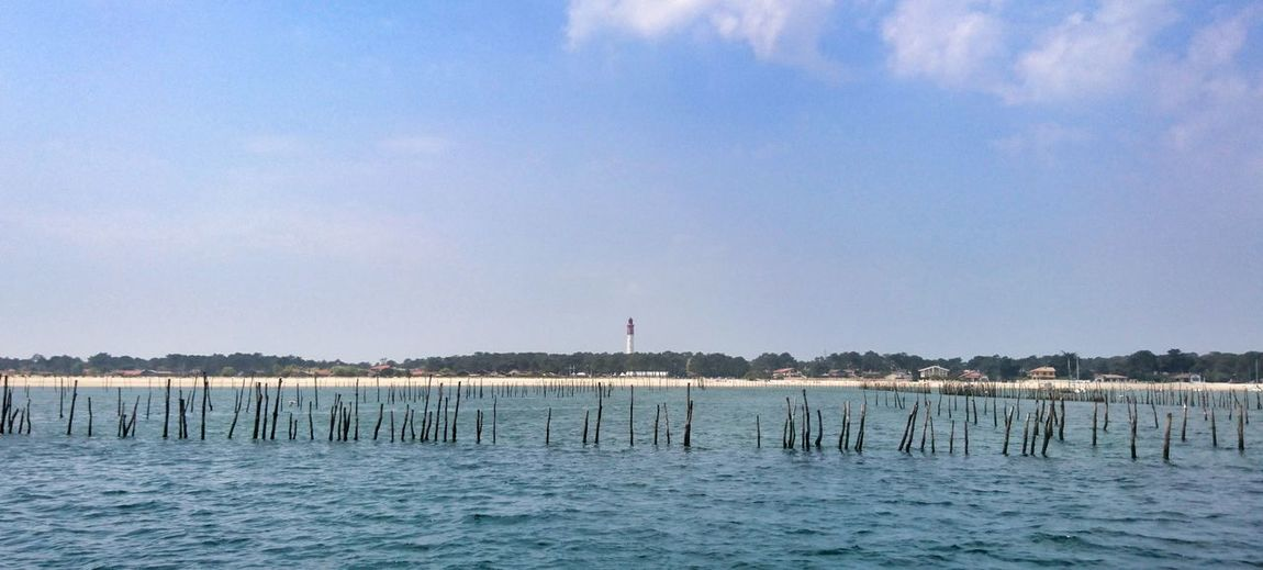 Water Sea Sky Nature Scenics - Nature No People Beauty In Nature Blue Travel Destinations Tranquil Scene Outdoors Bassin D'Arcachon Landscape Landscapes Cap Ferret France Cap Ferret Lighthouse Phare