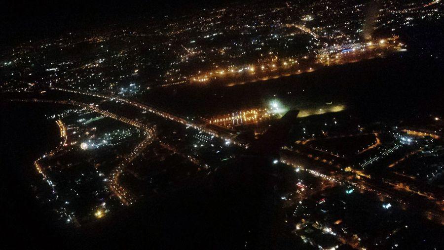 Night Luminosity Illuminated Sky Airplane Window Airplane View City Lights City At Night Flying High The Architect - 2017 EyeEm Awards Mobility In Mega Cities