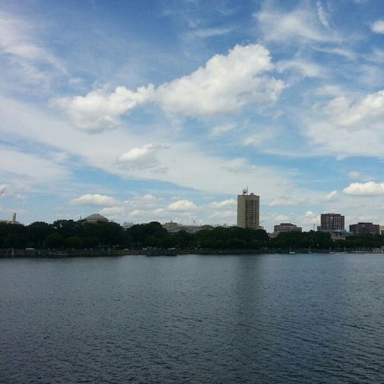 View of #MIT in #Cambridge from the #Charles River. Cambridge Charles Mit