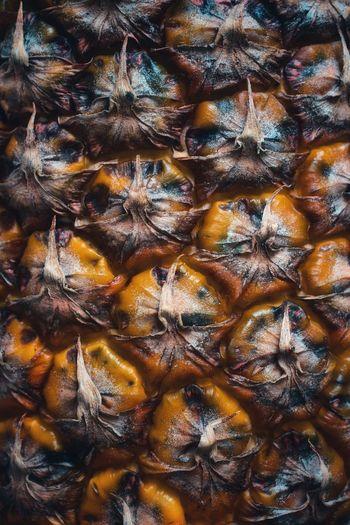 Full frame shot of pineapple