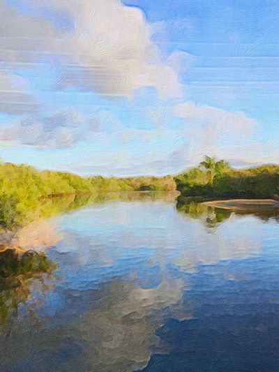Landscape Nature Reflection Water Scenics Multi Colored Landscape Tree No People Outdoors Beauty In Nature Sky Grass Ecosystem  Day EyeEm Eyeem Painters Photography To Paint Painting Fresh On Eyeem  This Week On Eyeem Multitalented Painter - Artist Painters Acrylic Painting