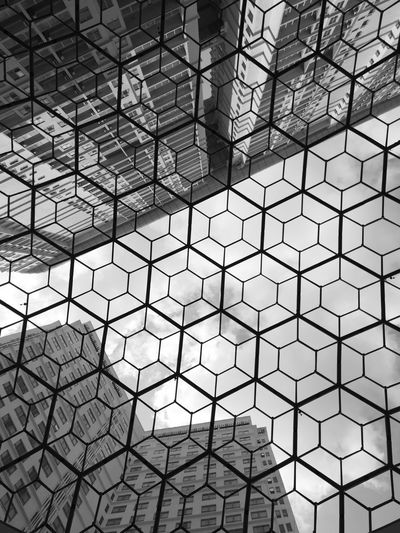 Backgrounds Full Frame Pattern Architecture Built Structure Hexagon Honeycomb Geometric Shape First Eyeem Photo