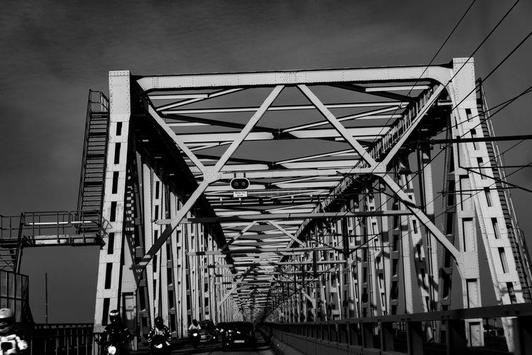 Cantilever Bridge Black & White Denmark Metal Beams Old-fashioned Black And White Blackandwhite Bridge Bridge - Man Made Structure Dutch Angle Metal Metal Bridge Steel Steel Bridge Steel Structure  Girder Railway Bridge Railroad Bridge Engineering