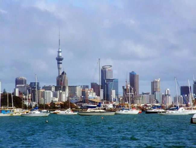 Auckland New Zealand Auckland Skyline Harbour View New Zealand Lifeasiseeit Johnnelson Turquoise Water Boat Water Wave Blue Wave Scenery