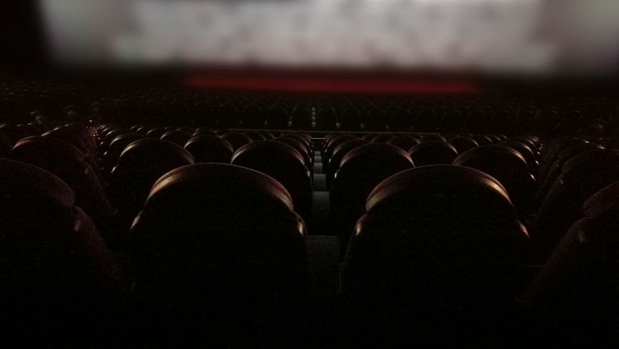 Cinema Movie Theater Empty No People In A Row Indoors  Nightlife End Credits Dark in Vienna, Austria ❤