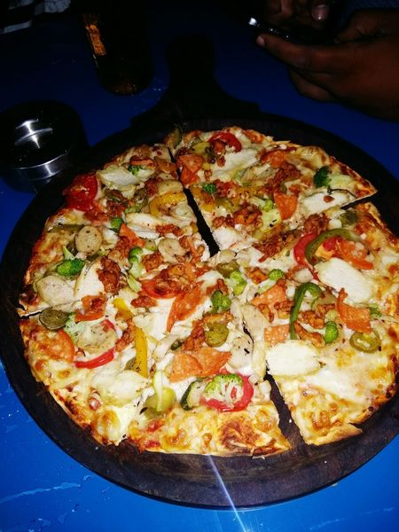Food Pizza Italian Food Food And Drink Ready-to-eat Savory Food Table Meal No People Directly Above Indoors  Gourmet Temptation Freshness Healthy Eating Vegetarian Food Greek Food Fast Food Close-up Basil Pan Pizza EyEmNewHere Mobile Photography EymEm Live For The Story