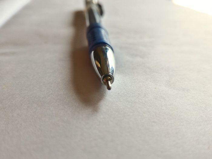 Pen Mightierthanthesword Blue Knowledge Insturument Macro Objects Of Interest Indoors  Close-up No People Purity Man Made Object Surface Level Full Frame Lieblingsteil