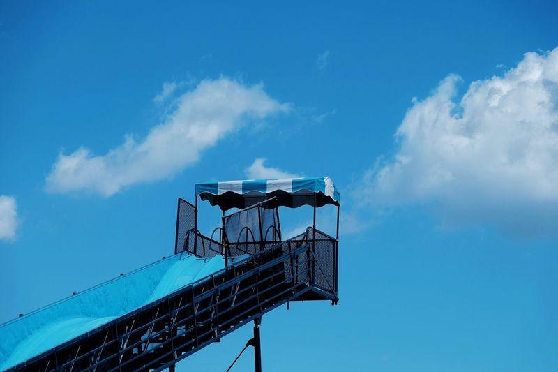 Water slide against sky