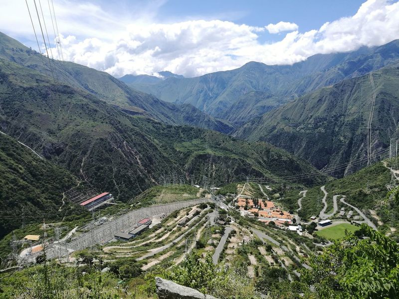 Hidroeléctrica del Mantaro Mountain Beauty In Nature Nature Colcabamba Peru Hydroelectric Power Plant Tree Mountain Pine Tree Sky Mountain Range Landscape Cloud - Sky