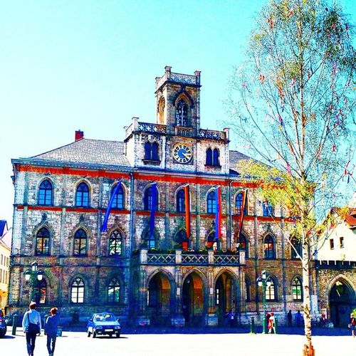 Cityhall in Weimar - Weimarer Rathaus Thuringen Goethestadt Worldheritage Unesco cityplanning architecture