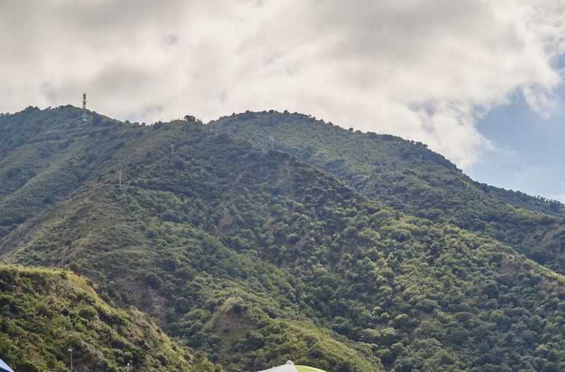 Scenic view of aspromonte mountains against cloudy sky