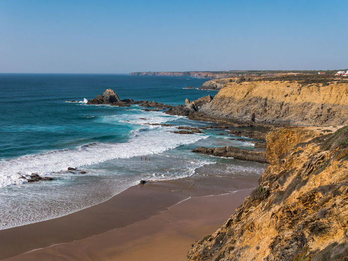 Landscape_Collection Nature Nature Photography Ocean View Portugal Rock Rock Formation Tranquility Beach Beauty In Nature Cavaleiro Cliff Horizon Over Water Landscape Landscape_photography Landscapes Nature_collection Naturelovers Ocean Photography Scenery Scenics Scenics - Nature Tranquil Scene Waves