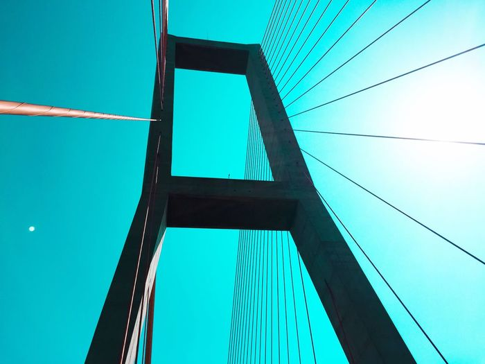 The Architect - 2016 EyeEm Awards Suramadu bridge (bridge between Surabaya and Madura Island) 🇮🇩 The Great Outdoors - 2016 EyeEm Awards South East Asia Bridge Bridgesaroundtheworld Pastel Colors Skyporn Blue Sky Red Architecture Pastel Power Bridge View Suramadu Surabaya Pipe Shootermag Pastel Sky Pastel Colours Pastel Colour Sky Lightroom Mobile Color Palette Traveling Outdoors Sky And Clouds Minimalist Architecture