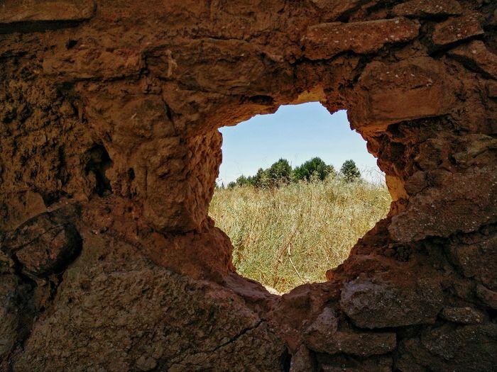 War hole. Ruins Belchite