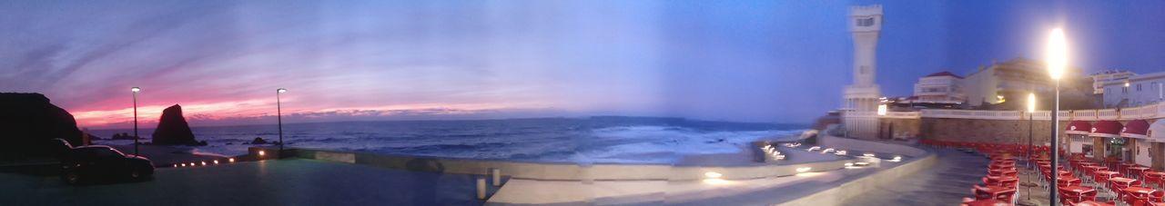 Beautiful Sunset Panoramic com muito frio, mas ainda assim uma linda paisagem