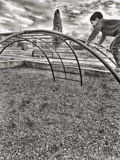 Midland, TX City Lifestyles One Person Cloud - Sky Outdoors Day Childhood Playground Climbing Monochrome Photography Uniqueness
