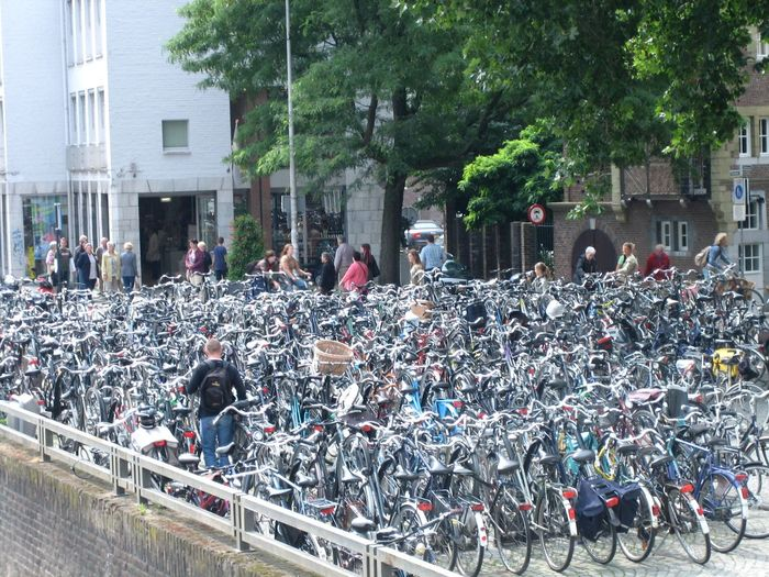 They say that there are more bicycles in Holland than people. Mobility In Mega Cities Abundance Bicycles Bicycles Parking City City Life Day Dutch Bicycle Parking Lifestyles Maastricht Outdoors Holland CyclingUnites Embrace Urban Life My Year My View