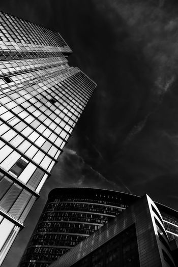 Envision XXIV Architecture Blackandwhite Blackandwhite Photography Building Exterior Built Structure City Cloud Engineering Low Angle View Modern No People Office Building Outdoors Sky Skyscraper Tower