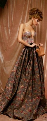 Floral Gorgeous Floral Dress Beautiful Dress  Style And Fashion Night Dress
