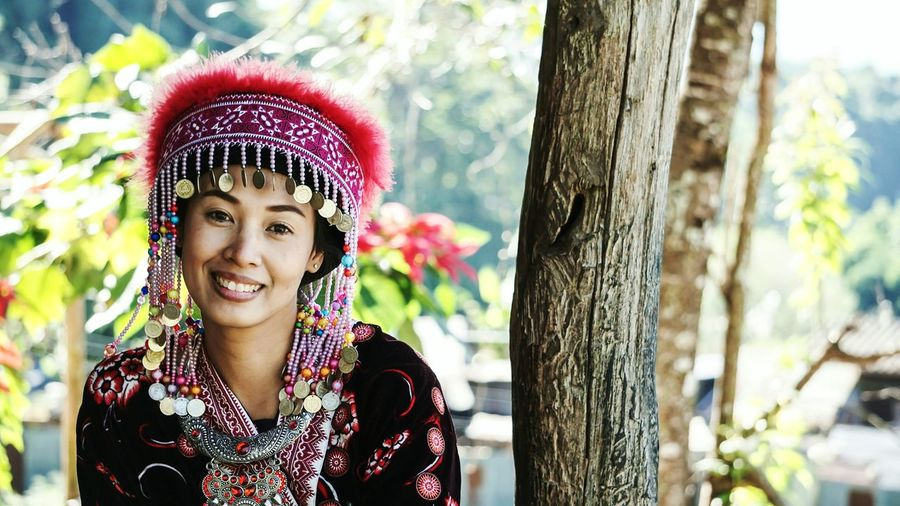 EyeEmPaid Portrait Looking At Camera Young Adult Young Women Tree One Person Outdoors Adult Beauty Day People Adults Only Only Women Nature Close-up Traditional Clothing Human Body Part Hmong Lanna Northern Thailand Women Around The World The Portraitist - 2017 EyeEm Awards Neighborhood Map