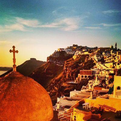 Santorini Greece Sunsetporn Church Island Igs_world Ig_greece Insta_europe Insta_global