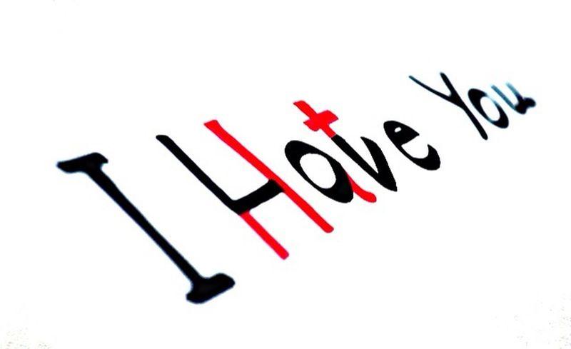 Love Hate Big Love Red Black Said