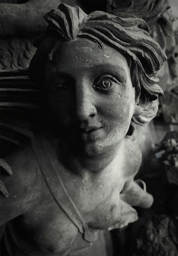Art Baroque Blackandwhite Monochrome Schlossbauhütte Sculpture Stone Sculpture Portrait Stoned In Paradise Stone Sculpture