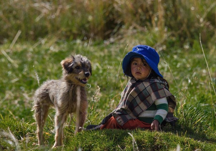 Sweet Andean child with his pet TheVille Somosfelices Eye4photography  EyeEm Best Shots