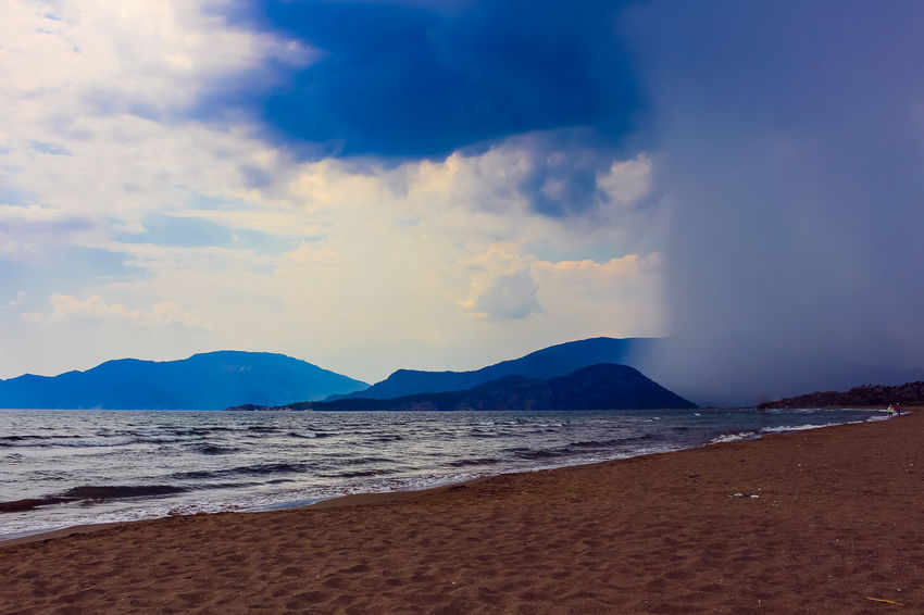 Storm Beach Beauty In Nature Cloud - Sky Day Idyllic Land Mountain Nature No People Non-urban Scene Outdoors Power In Nature Sand Scenics - Nature Sea Sky Tranquil Scene Tranquility Travel Turey Turtle Beach Water The Great Outdoors - 2018 EyeEm Awards