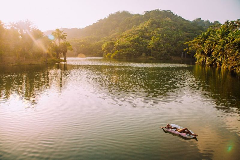 Tranquility Forest Girl Man Made Lake Lake Travel Serenity Tree Plant Transportation Mode Of Transportation Nautical Vessel No People Scenics - Nature Beauty In Nature Nature Day Outdoors Tranquil Scene The Traveler - 2018 EyeEm Awards The Great Outdoors - 2018 EyeEm Awards