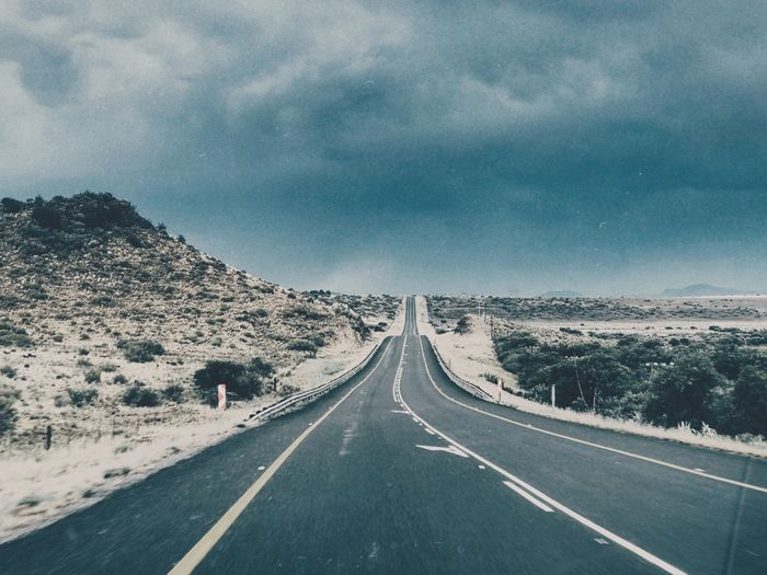 Road Trip II South Africa Karoospaces Karoo Road Direction Sky The Way Forward Transportation Cloud - Sky Symbol Road Marking Diminishing Perspective Landscape Scenics - Nature vanishing point Tranquility EyeEmNewHere