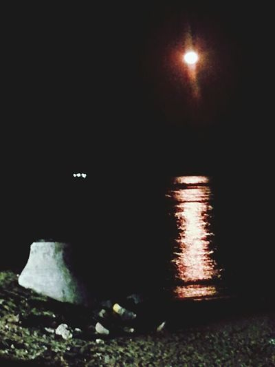 asi se ve la Luna dsd la Playa en Boca Del Rio Veracruz