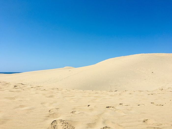 Land Sand Sky Clear Sky Blue Scenics - Nature Tranquility