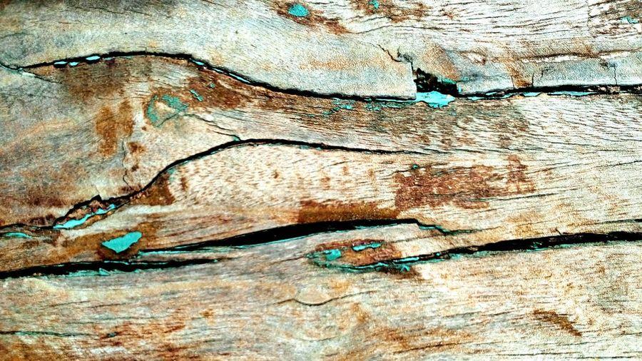 Full frame shot of cracked wood