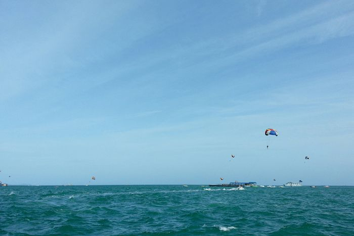 Fire Balloon Flying High Sky And Sea Summertime Summer Holidays Enjoying Life Pattaya