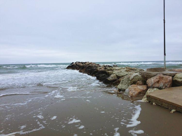 Waiting for the sun Beachphotography Beach Sea Rocks Adriatico Mar Adriatico The Week On EyeEm