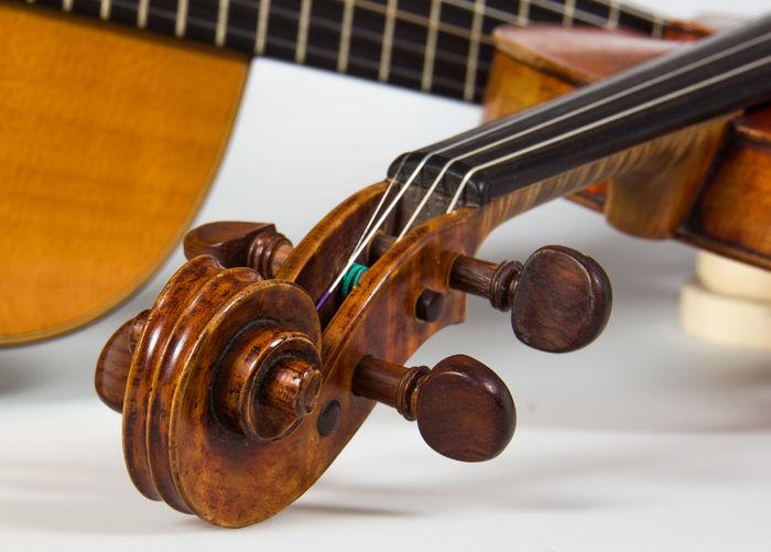 Close-up Equipment Guitar Indoors  Music Musical Instrument Retro Styled Still Life String Instrument Violin