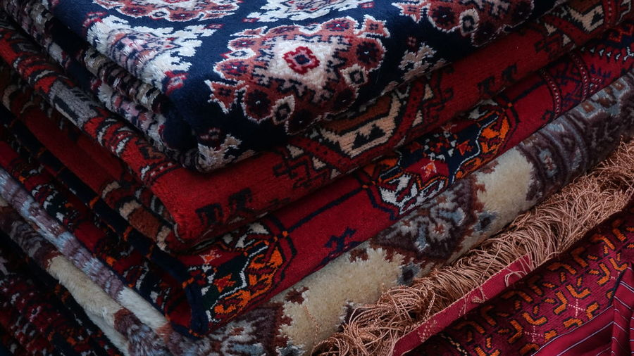 Cozy Carpet Carpet - Decor Tapestry Nofilter Noedit Original Exhibition Bright Colorful Market Background Bazaar Soft Red Pattern Pattern, Texture, Shape And Form Pattern Pieces Patterns Handmade Present Design Inside Christmas Market Multi Colored Red Close-up Architecture Built Structure Ancient