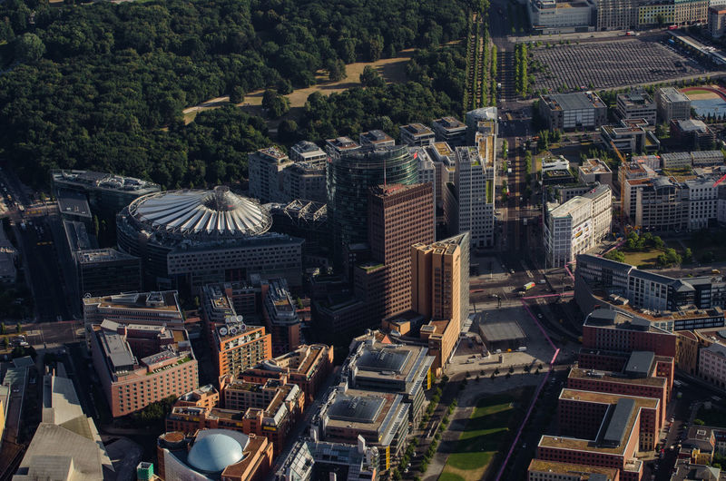 High angle view of berlin