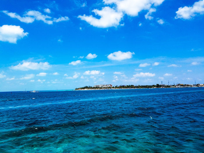 Blue Nature Outdoors Water Cloud - Sky Sky Day Horizon Over Water No People Scenics Beauty In Nature Isla Mujeres Mexico Mexico Cancun Springtime Spring May 2017 Vacation Clouds Travel Travel Destinations Tranquility Idyllic Island Tropical Climate The Week On EyeEm