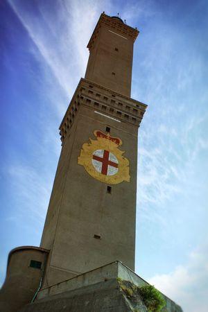 La Lanterna di Genova Lanterna Di Genova Genoa Lighthouse Italy Italia Sea Mediterranean  Harbour Sky