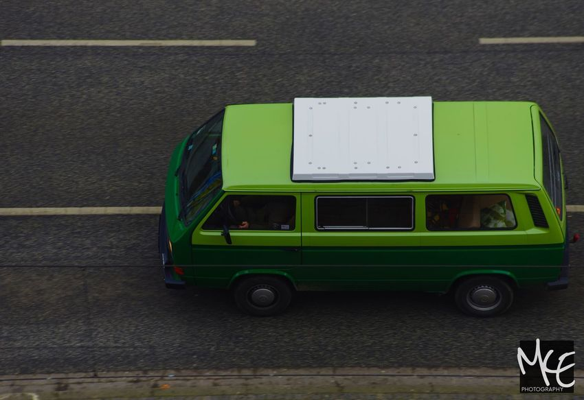 Green Color Land Vehicle Outdoors Car Hannover Volkswagen