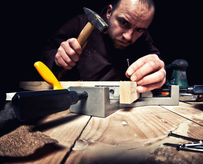 DIY Work Worker Worker And Tools Working Carpenter Carpenter Tools Craftman Tools Funny Faces Hammer Job One Person People Portrait Portrait Photography Tools Workers At Work