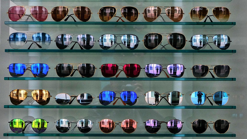 Berlin Photography Abundance Arrangement Choice Collection Day Fashion For Sale In A Row Indoors  Large Group Of Objects Multi Colored No People Refelctions Retail  Shelf Shelves Store Sunglasses Variation Summer Exploratorium The Still Life Photographer - 2018 EyeEm Awards #urbanana: The Urban Playground