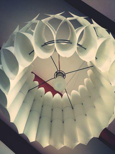 Geometric Light Shades Swedish Design Retro House Close-up